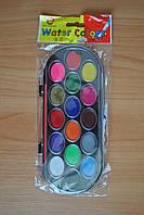 Краска акварель VC  + кисточка 16 цветов