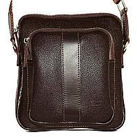 Кожаная мужская сумочка Mk48 коричневая флотар