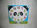 Деревянные игрушки - рамка вкладыш часы 4 вида, фото 2
