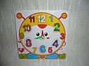 Деревянные игрушки - рамка вкладыш часы 4 вида, фото 3