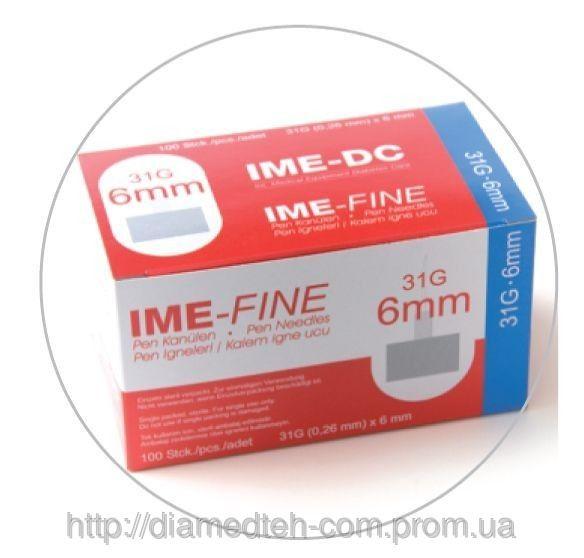 Иглы к шприц ручкам универсальные IME—FINE (IME-DC) 6mm