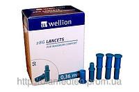 Ланцеты Wellion 28G (0.36мм) №50
