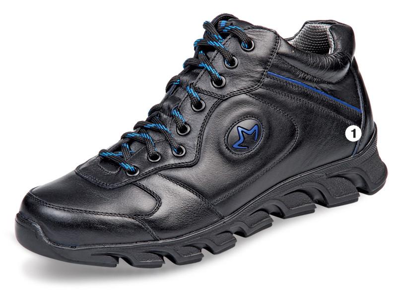 Мужские высокие кроссовки МИДА 12173 из натуральной кожи. -  интернет-магазин обуви