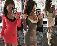 Сукня жіноча сукня футляр олівець декольте з оздобленням