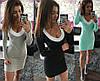 Платье женское мини с длинным рукавом и вырезом с отделкой 42 44 46 48 50 Р