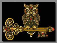 Схема для вышивки бисером Ключ мудрости