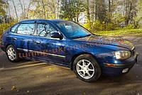 Дефлекторы окон (ветровики) COBRA-Tuning на HYUNDAI ELANTRA 3 Hatchback 5D 2000-2006