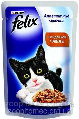 Корм для котов Felix  Purina (Пурина) Феликс с лососем 100г