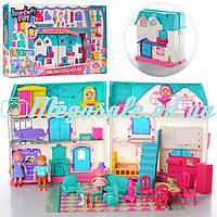 """Кукольный домик """"Happy Play"""" с мебелью, 23х24х13,5см: звук/свет, мебель + фигурки"""