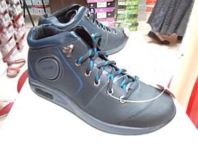 Мужские ботинки деми МИДА 12077 синие из натуральной кожи., фото 3