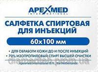 Салфетка спиртовая 60*100мм , APEXMED