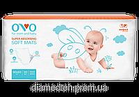 Модель: OVO Одноразовые пеленки для новорожденных, 60x60 см 30 шт