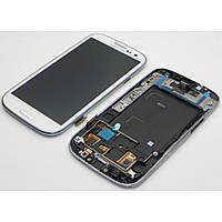 Дисплейный модуль с рамкой для Samsung i9305 Galaxy S3 (white) Original