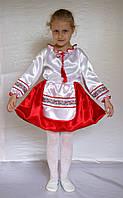 Новогодний карнавальный костюм Украинка с широким кружевом