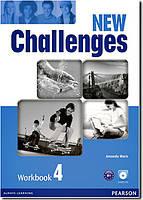 Рабочая тетрадь Challenges NEW 4 Workbook+CD-ROM
