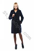 Зимнее женское шерстяное пальто с поясом