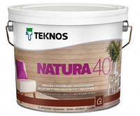 Лак для дерева мебельный акриловый TEKNOS NATURA 40 полуглянцевый 0,9л.