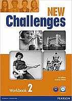 Рабочая тетрадь Challenges NEW 2 Workbook+CD-ROM