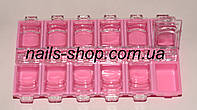 Контейнер 12 отделений для мелочей розовый