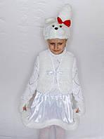 Новогодний карнавальный костюм зайчик-девочка №1