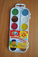 Краска акварель Гамма 12 цветов