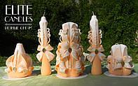 Handmade candles №1023 (Персиковый) 5 свечей