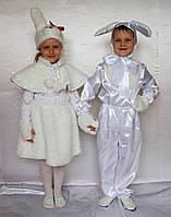 Новогодний карнавальный костюм зайчик-девочка