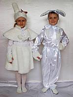 Новогодний карнавальный костюм зайчик-мальчик