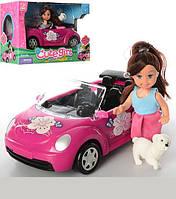 Кукла с машинкой и собачкой K899-14