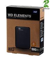 """HDD ext 2.5"""" USB  500Gb WD Elements Portable (WDBUZG5000ABK-EESN)"""