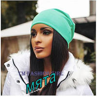 Женская шапка Fashion мята