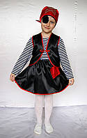Новогодний карнавальный костюм пират-девочка