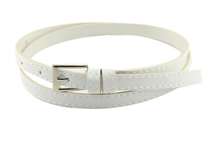 Пояс женский Тонкий белый/ цвет белый/ материал PU