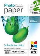 Самоклеющаяся бумага CW, матовая 120/80g/m2, A4, 50л (PMS1208050A4)