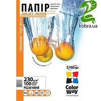 Фотобумага CW глянцевая 230g/m2, 10х15, 100л, картонная упаковка (PG2301004R)