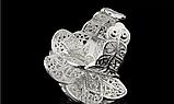 Кольцо Роза серебро 925 проба Регулируемое, фото 5