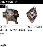 Генератор Fiat Ducato 1, 9D 75 Amp. CA1258IR