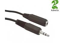 Аудио-кабель Gembird CCA-423; 3.5mm stereo plug to 3.5mm stereo socket audio extension cable 1,5 м, стерео, Black