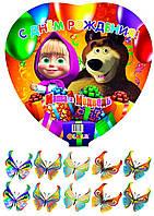 Маша и медведь 169 Вафельная картинка