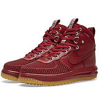 Оригинальные  кроссовки Nike Lunar Force 1 Duckboot Team Red & Gum