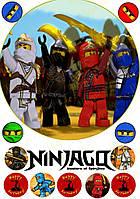 Ниндзяго Лего 25 Вафельная картинка
