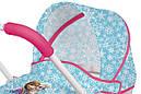 Коляска с люлькой для куклы Холодное сердце Frozen Pop Pram Smoby 511345 , фото 4