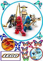 Ниндзяго Лего 30 Вафельная картинка
