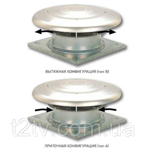 Крышный осевой вентилятор Soler & Palau  HCTT/4-315-B (400V50HZ) VE
