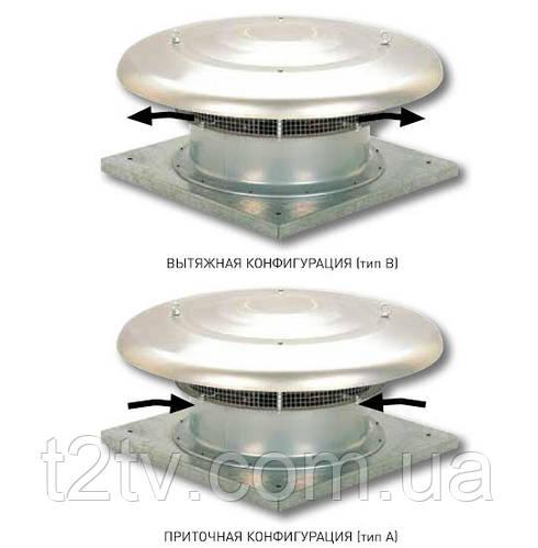 Крышный осевой вентилятор Soler & Palau  HCTT/6-500-B (400V50HZ) VE