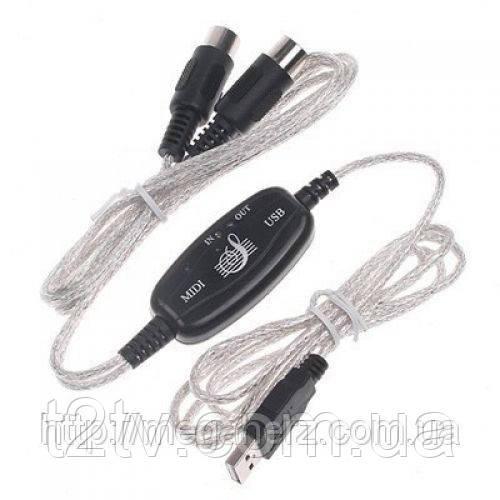 Кабель USB MIDI интерфейс конвертер адаптер к ПК