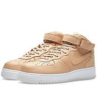Оригинальные  кроссовки NikeLab Air Force 1 Mid Vachetta Tan & White