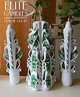 Венчальные свечи для Семейного очага №1038 (Зеленый)