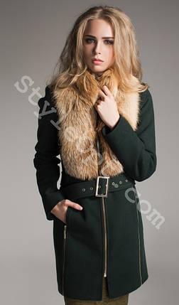 f6bc47a4ba8 Женское зимнее кашемировое пальто с меховым воротником - Цена 4 593 ...