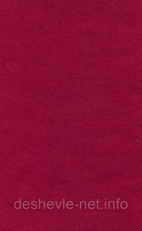 Фетр листовой (вискоза) 20х30 см, Красный темный, 150 г/м2, Knorr Prandell, 258